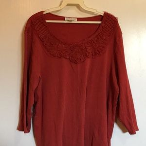 3/4 Sleeve Coldwater Creek Blouse 2X